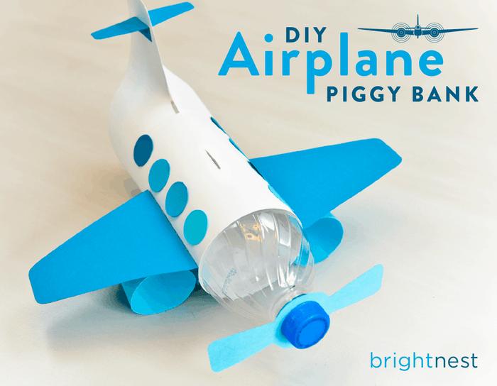 Airplane piggy bank