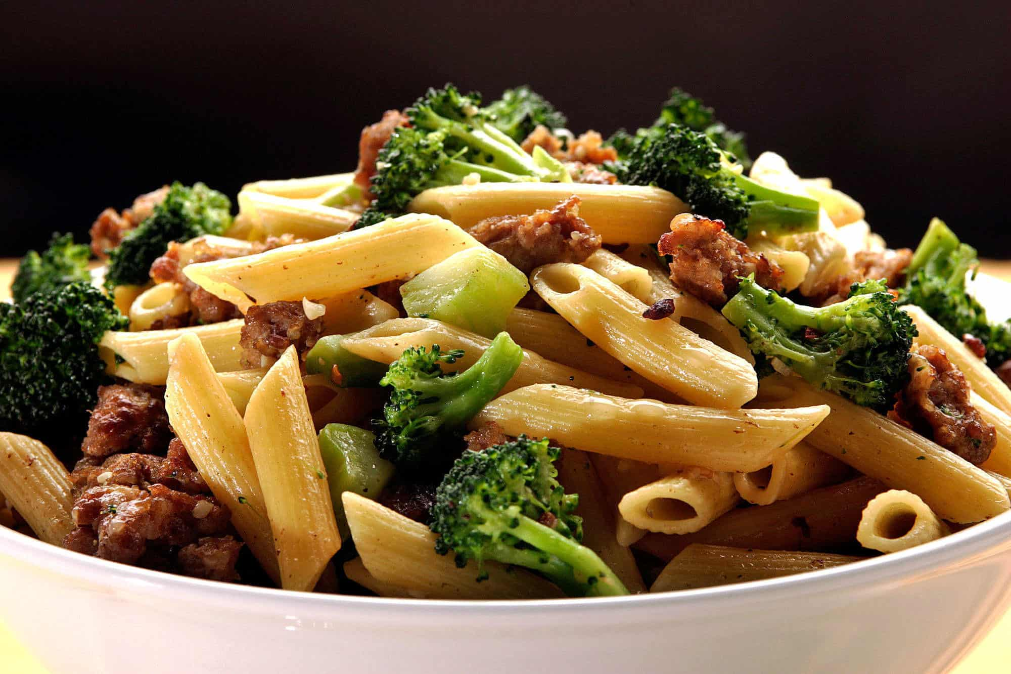 Broccoli and Italian sausage pasta
