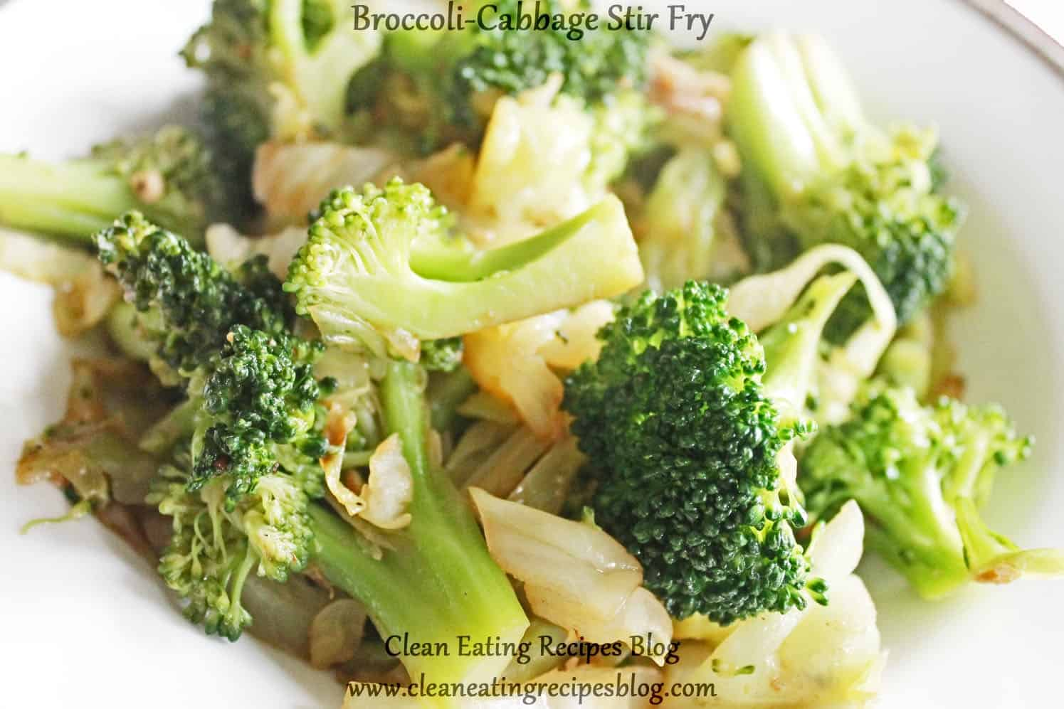 Broccoli cabbage stir fry