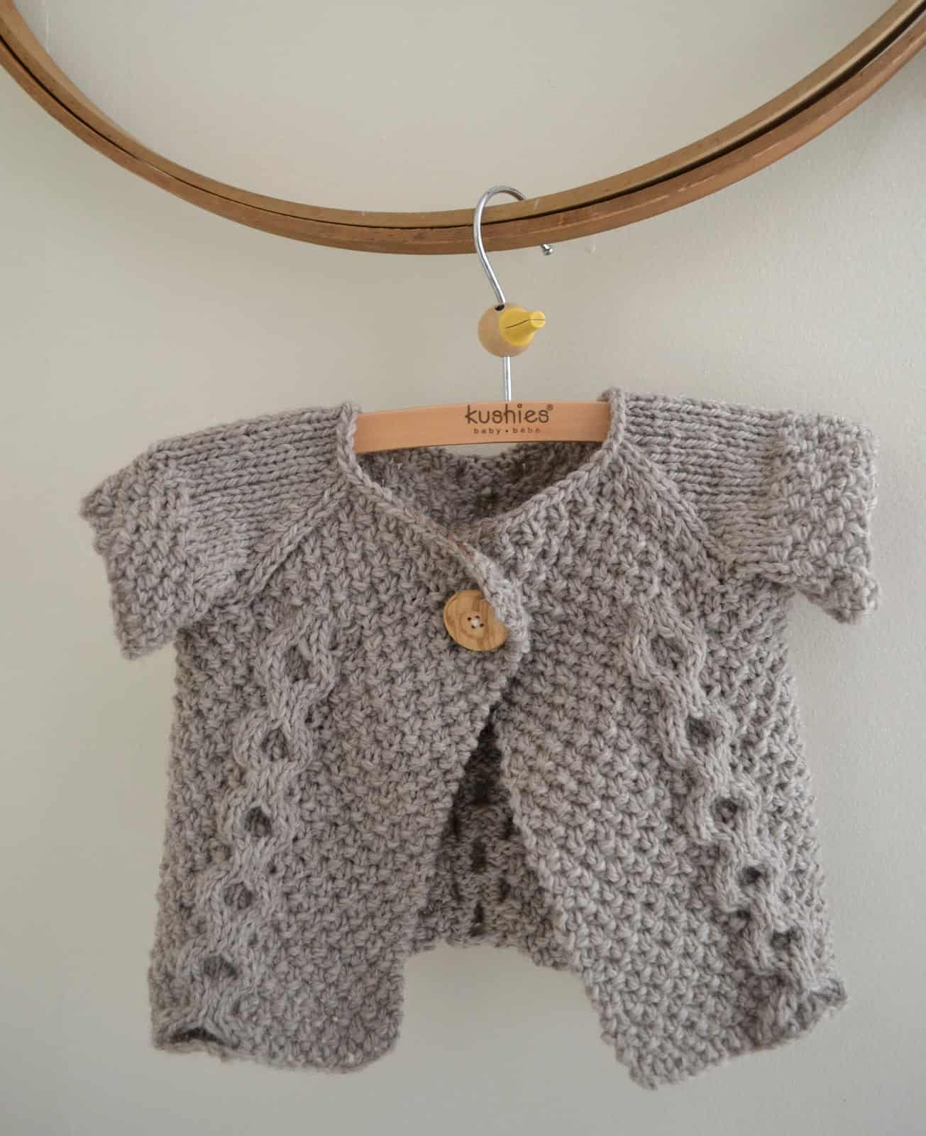 Cable and seed stitch t-shirt sweater