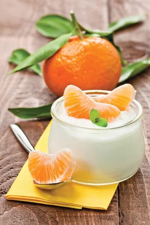 Citrus yogurt scrub