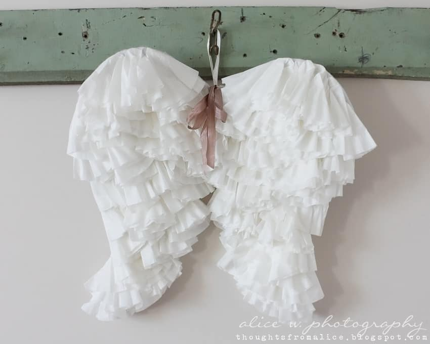 Coffee filter angel wings