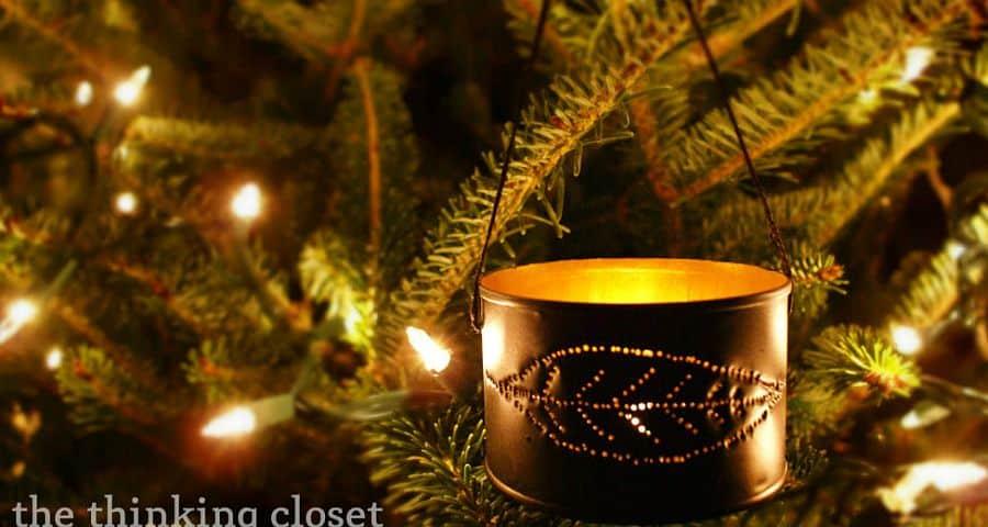 DIY Tin Can Ornaments