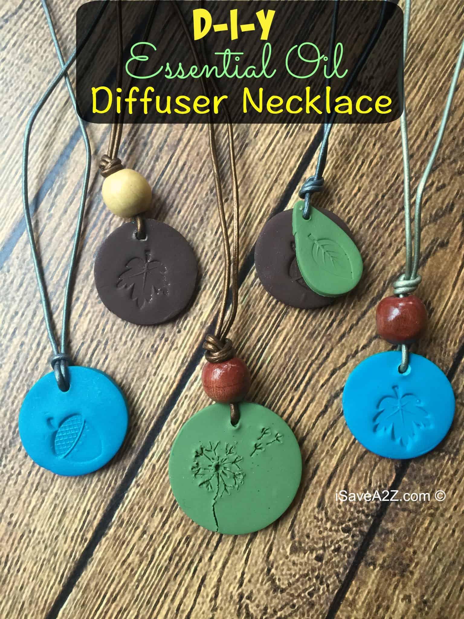 Diffuser clay necklace