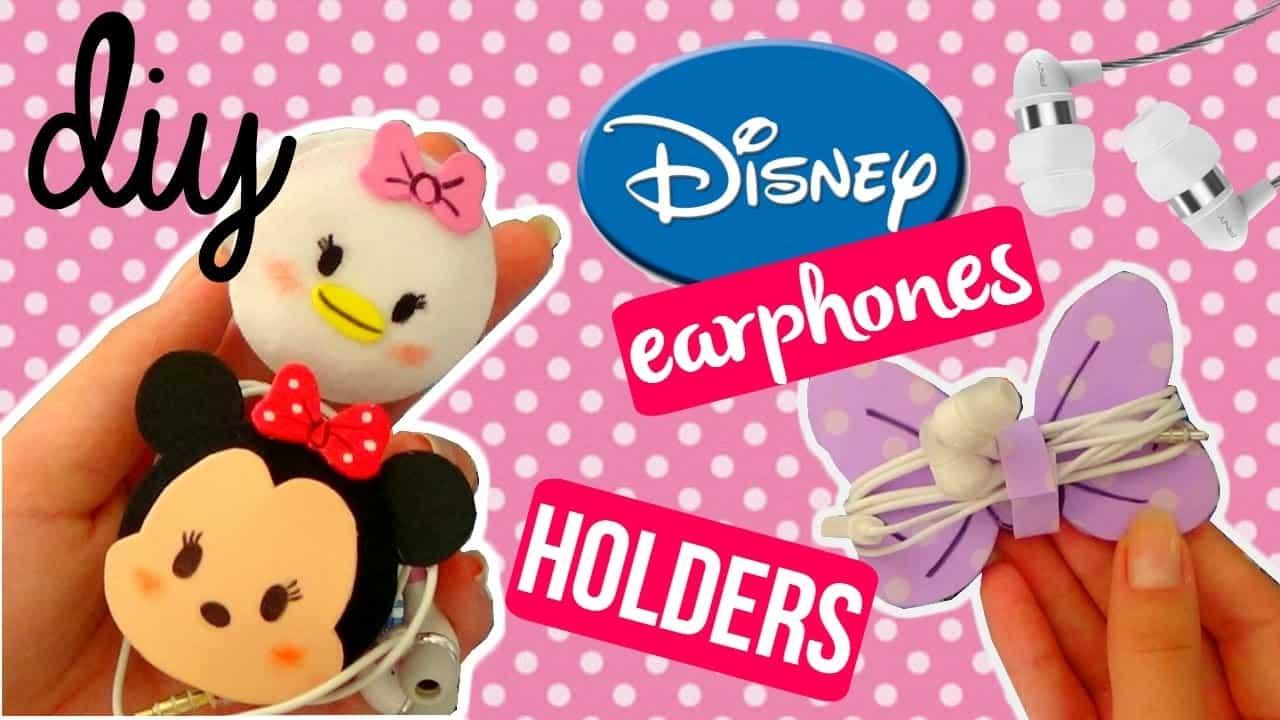 Disney earphone holders