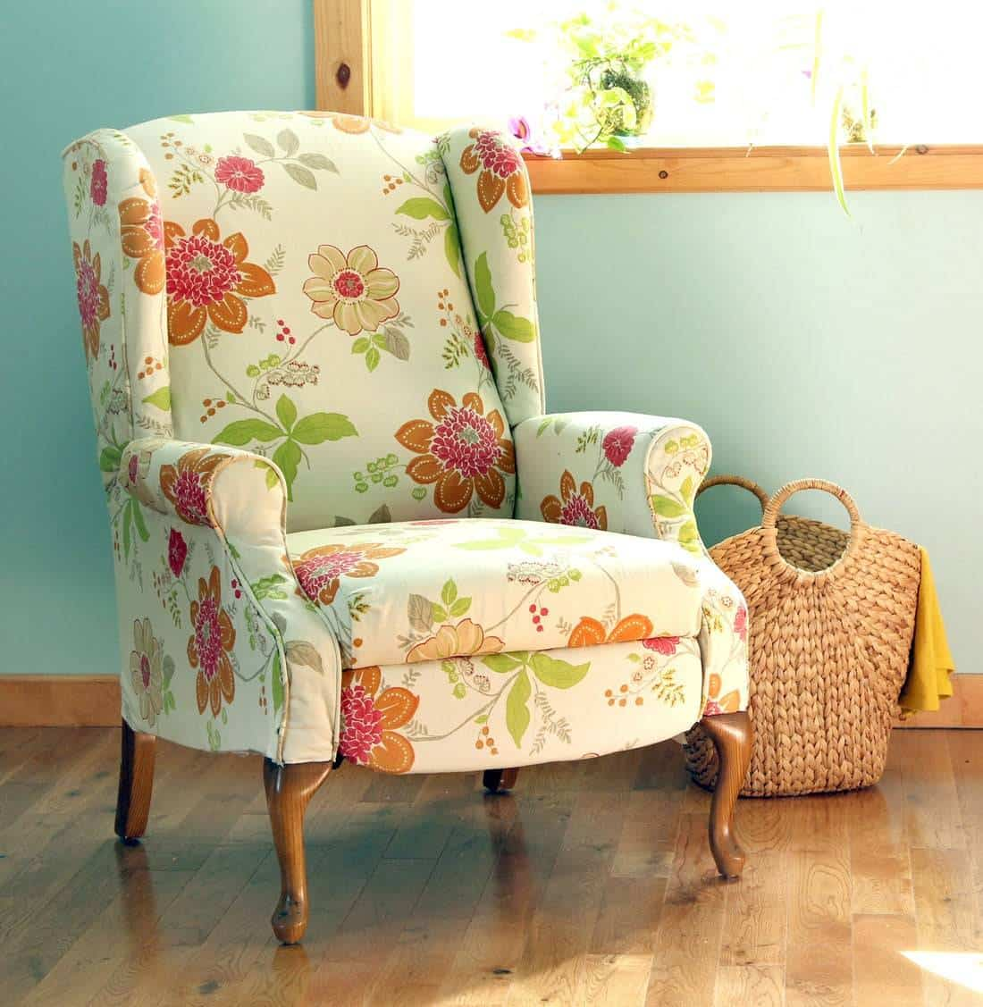 Floral recliner chair