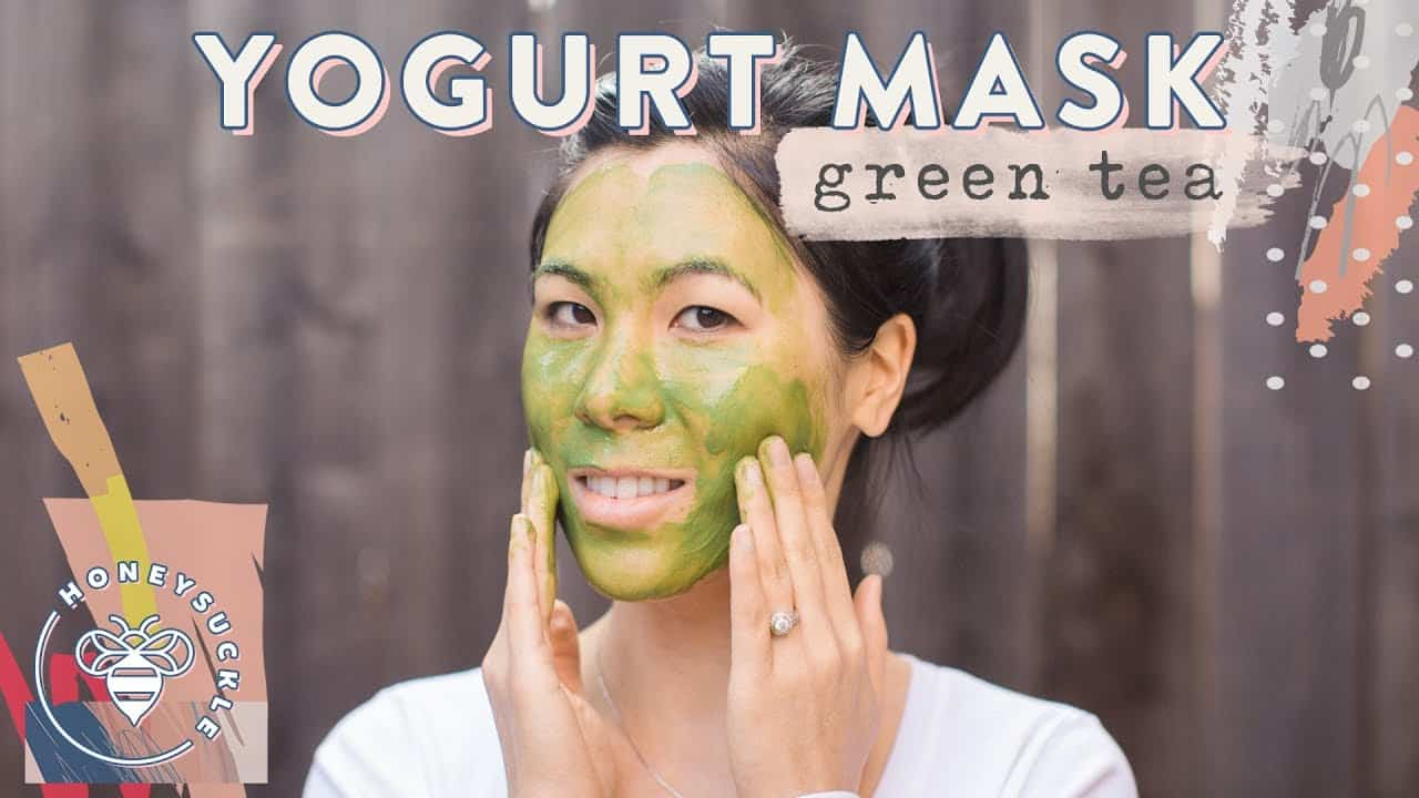 Green tea yogurt mask