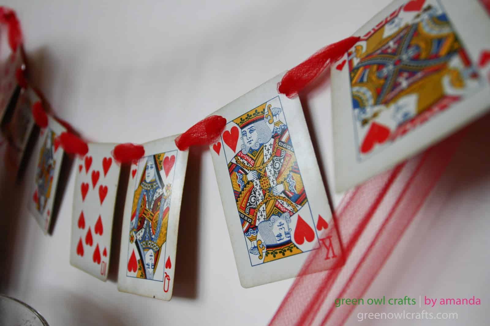 Hearts cards Valentine banner