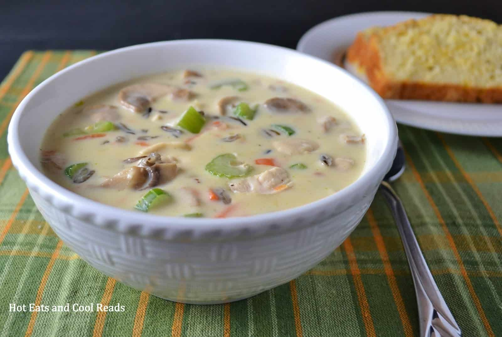 Homemade chicken and wild rice soup