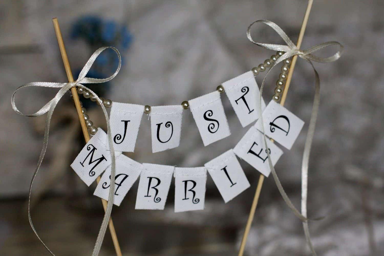 diy wedding cake topper banner