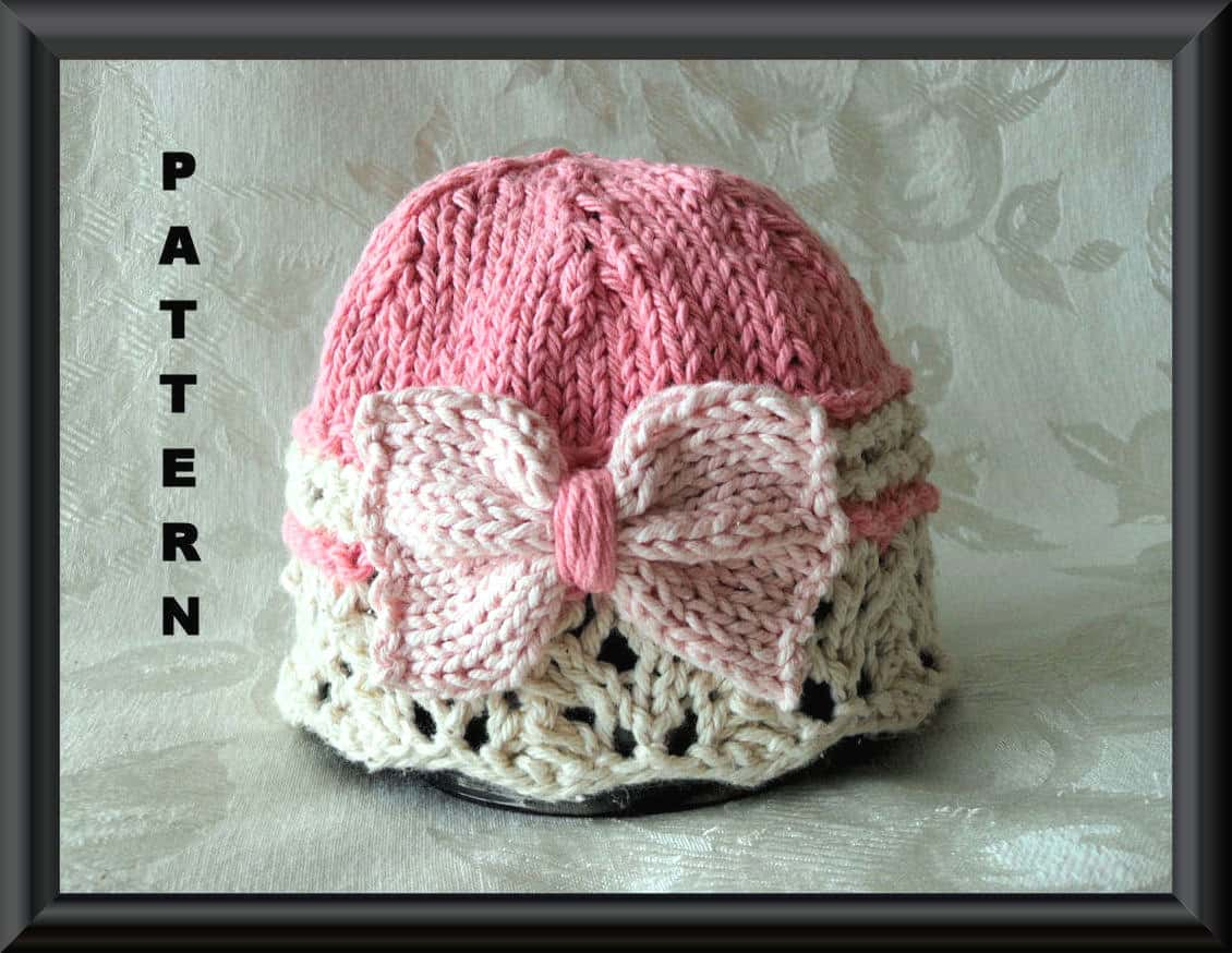 Lace brim with a bow