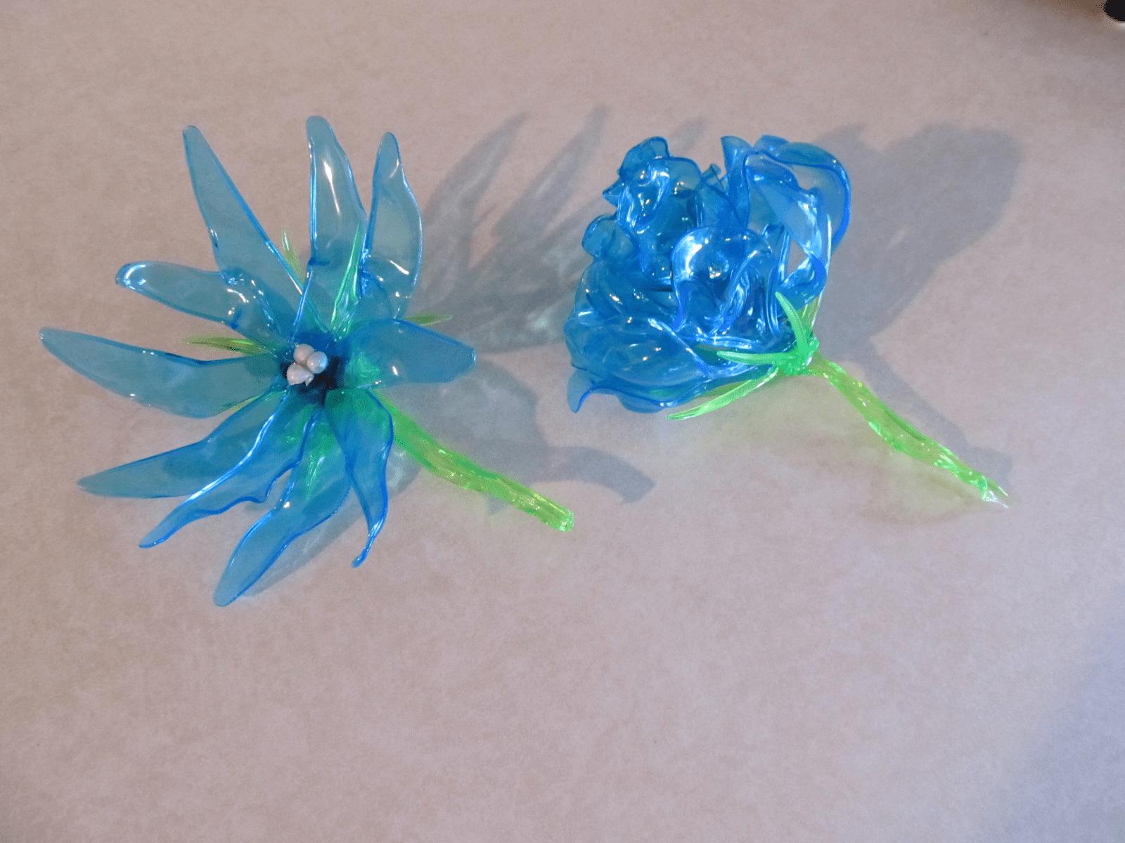 Melted fork flowers