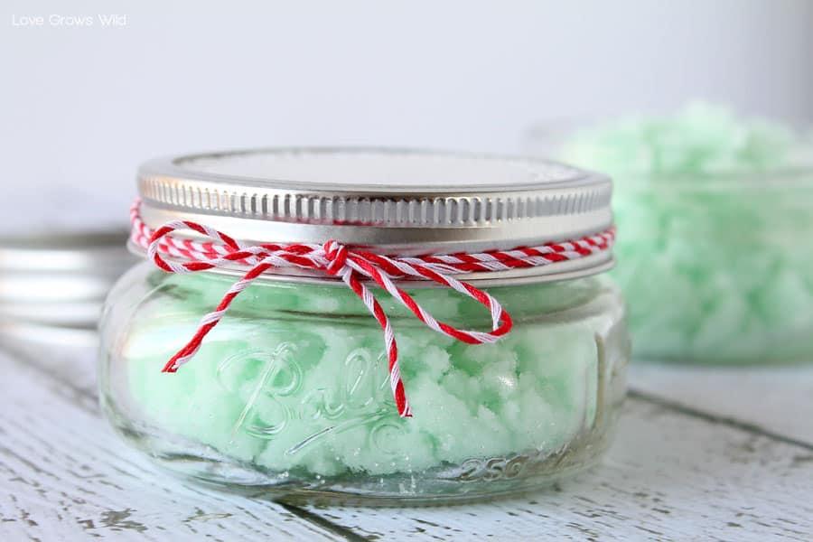 Mint sugar scrub