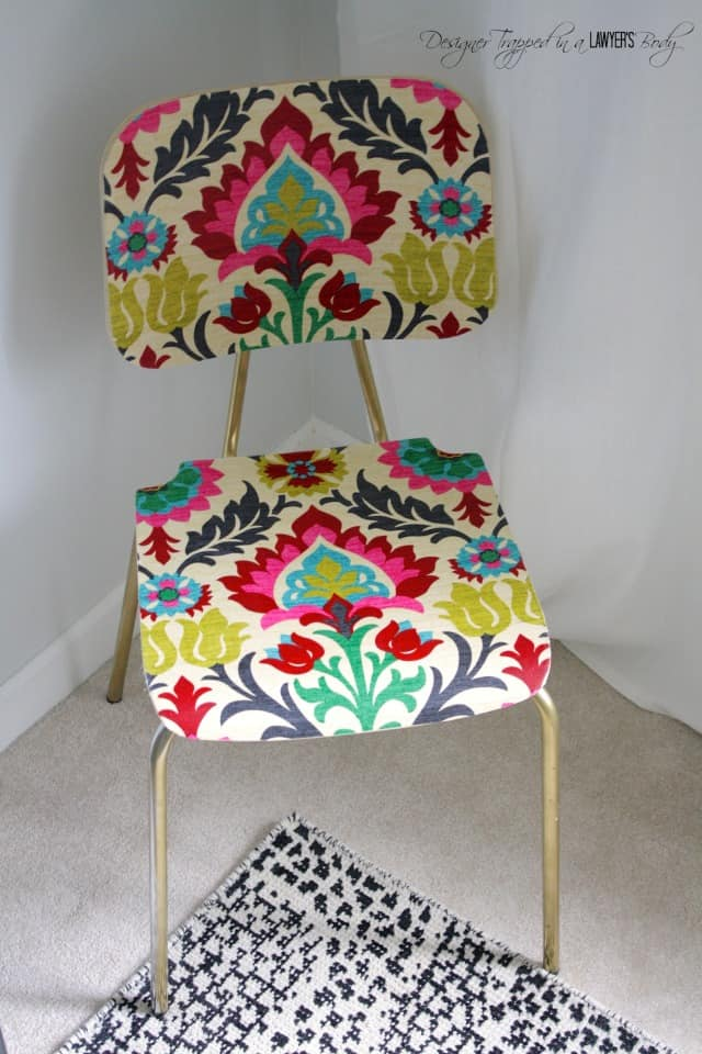 Mod podge upholstered chair