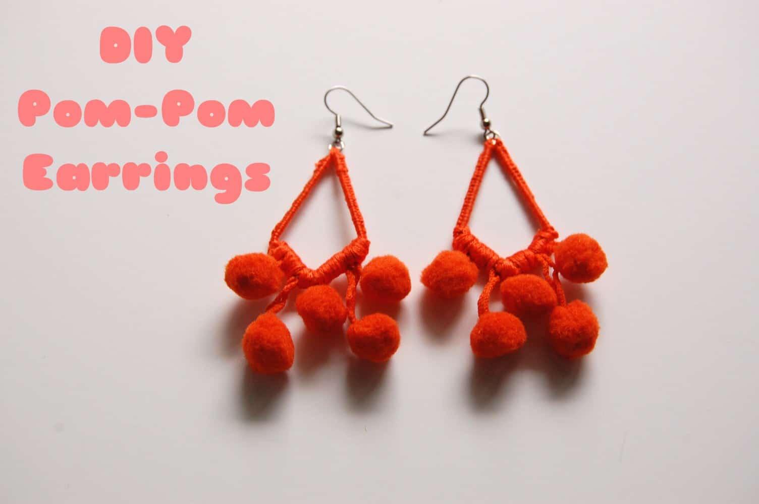 Multi-dangling pom poms