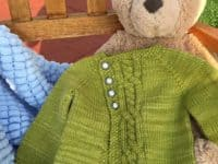 Olive You Too Cardigan 200x150 Getting Ready for Winter: Pretty Knitted Baby Sweater Patterns