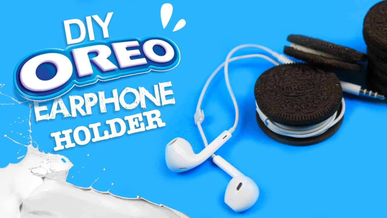 Oreo earphone holder