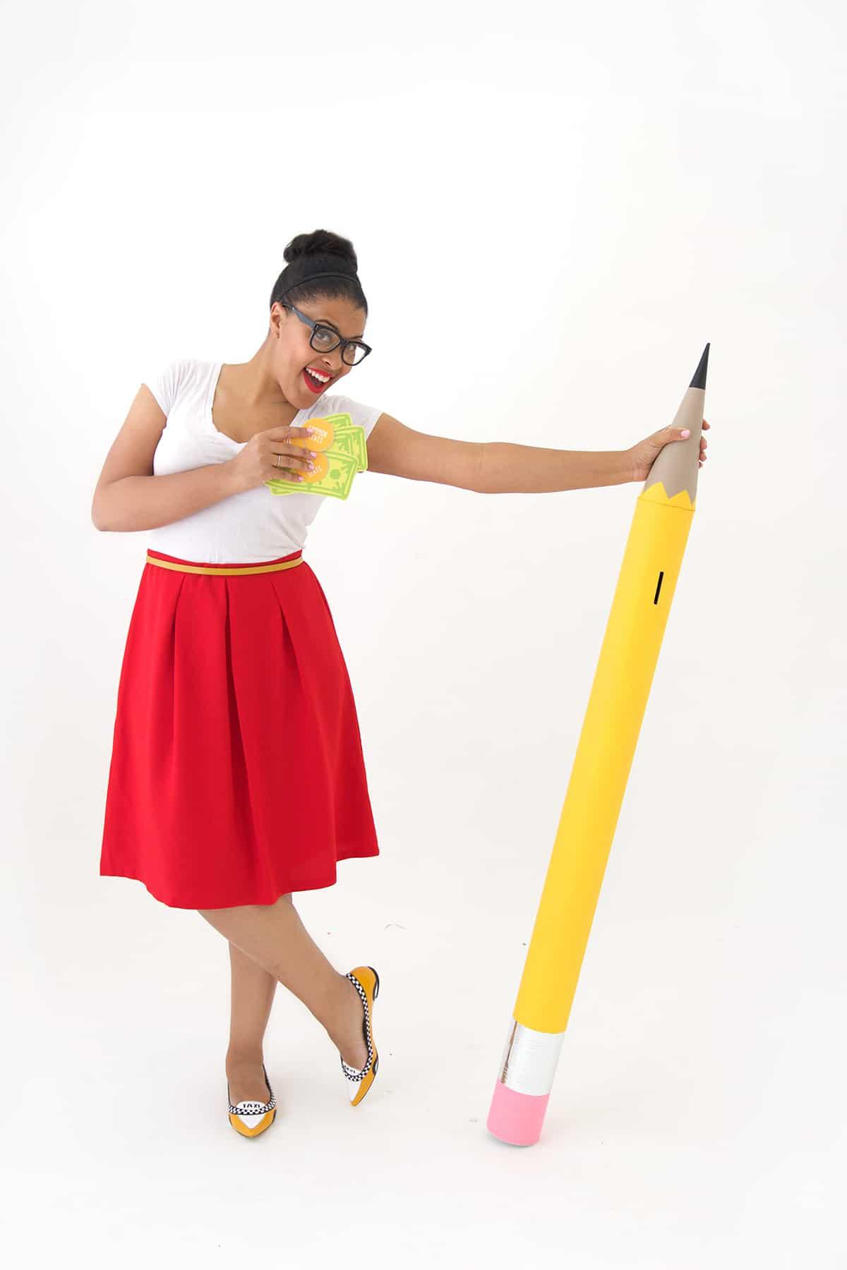 Pencil piggy bank