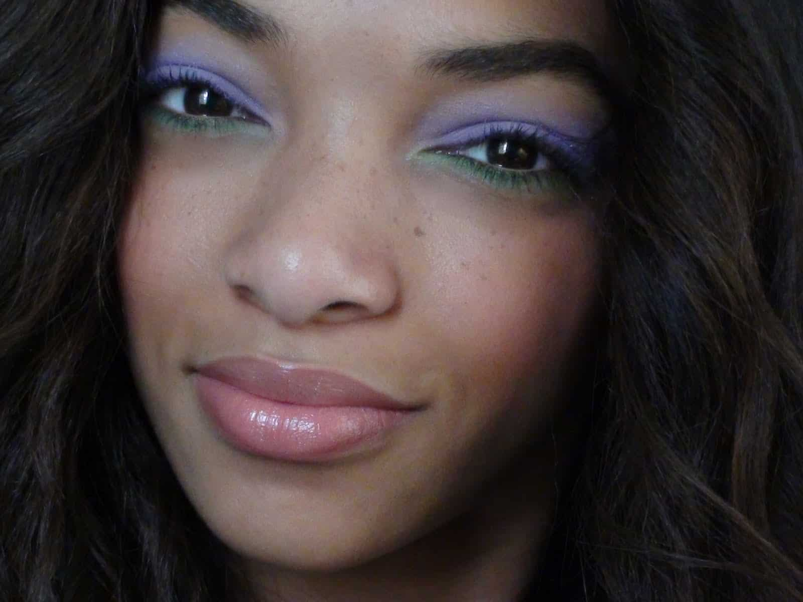 Periwinkle and soft green eyes without liner
