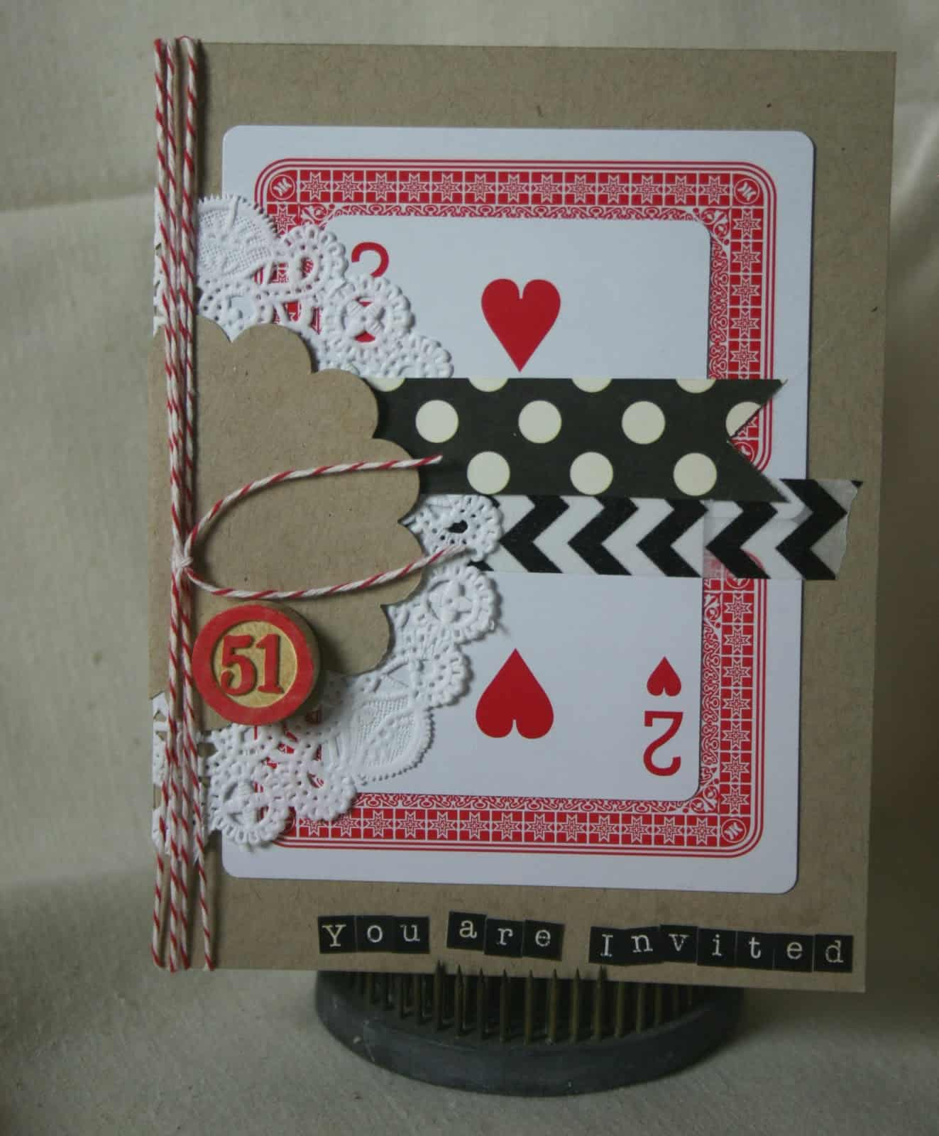 Playing card party invites