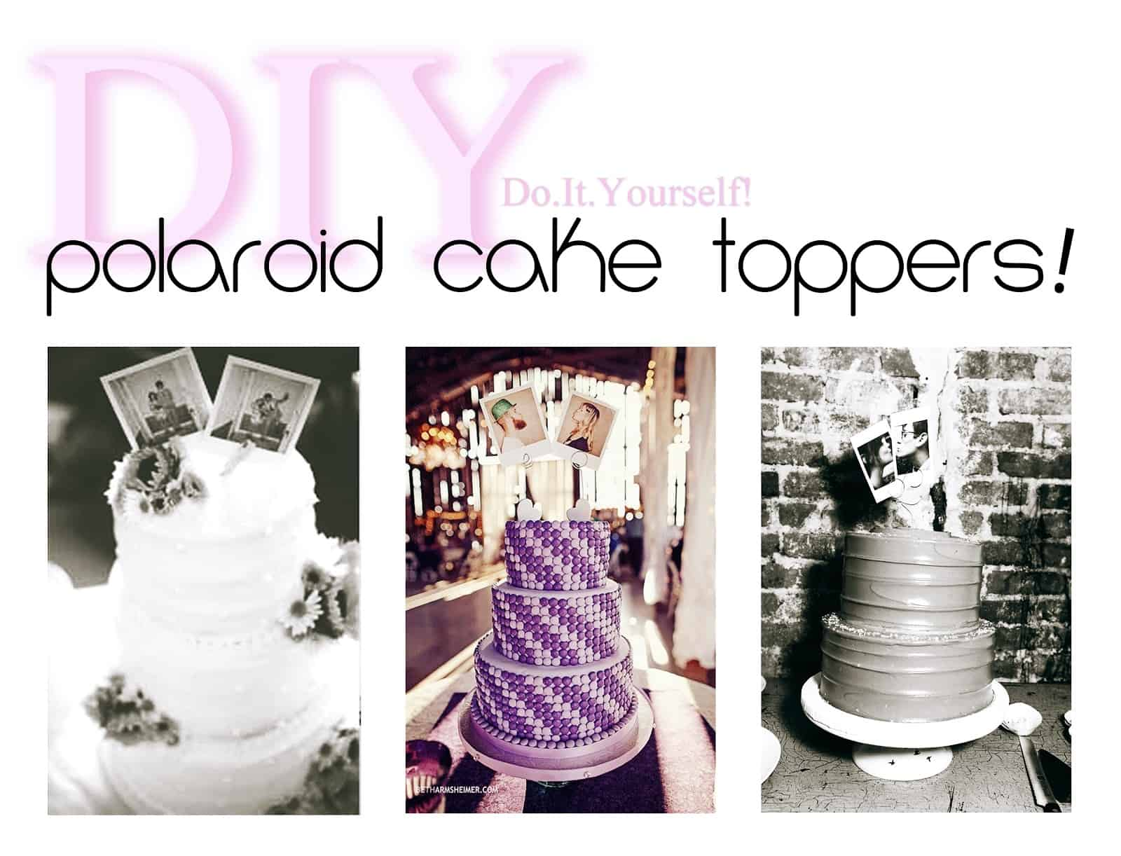 Simply adorable diy wedding cake toppers polaroid and wire cake toppers solutioingenieria Image collections