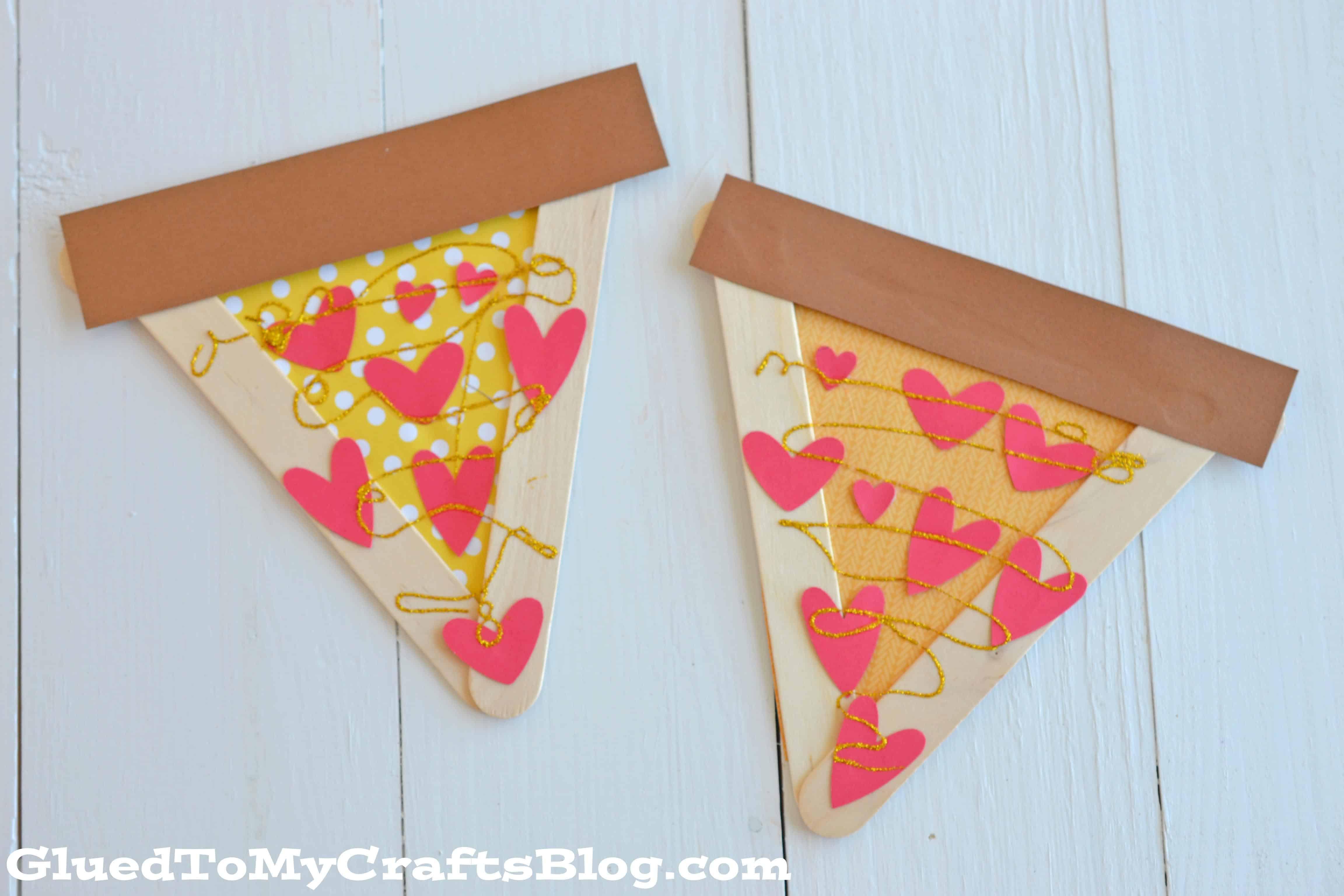 Popsicle stick pizza