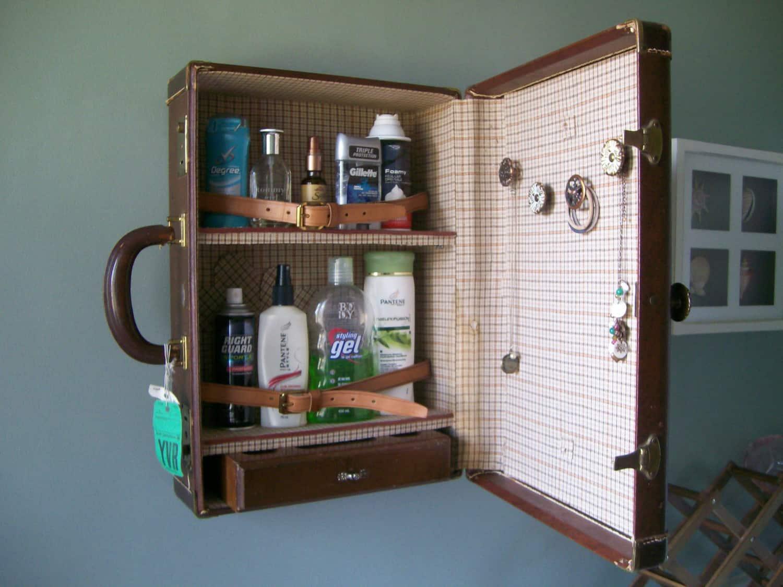 Portmanteau medicine cabinet