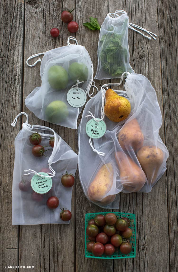 See-through produce bags