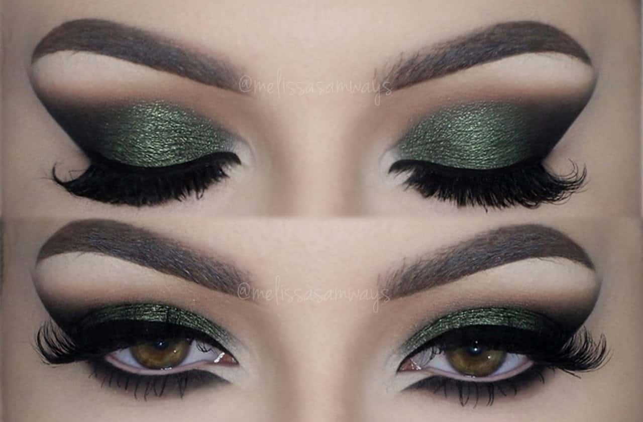 Shimmering olive green and a dramatic black wing
