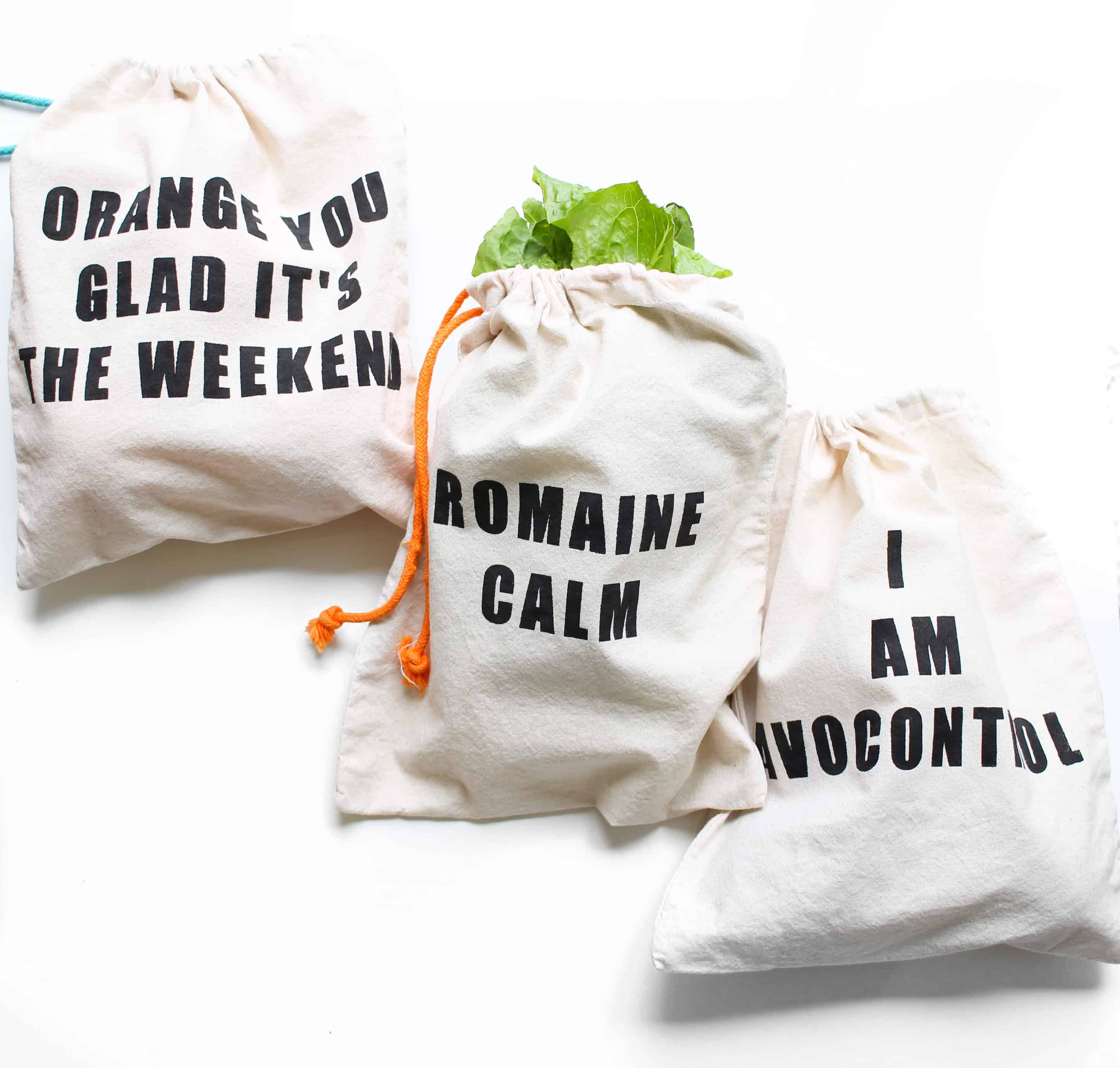 Stenciled produce bags