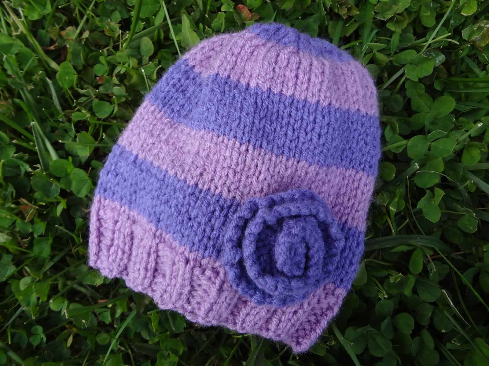 Stripes and flowers hat