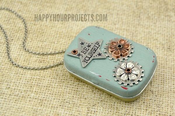 Tin box locket