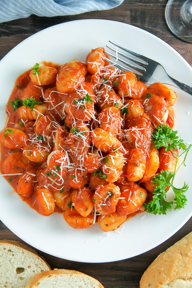 Tomato sauce gnocchi