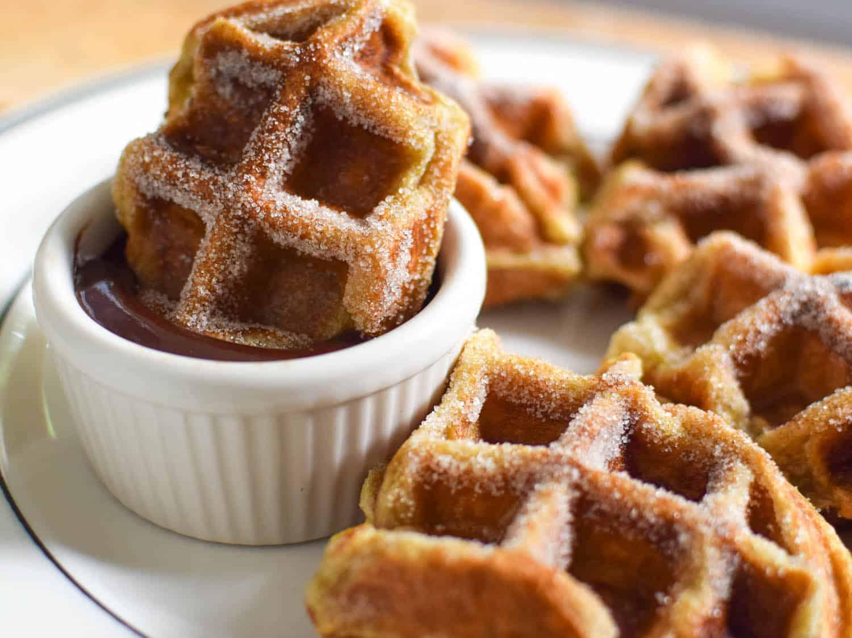 Waffle iron churros