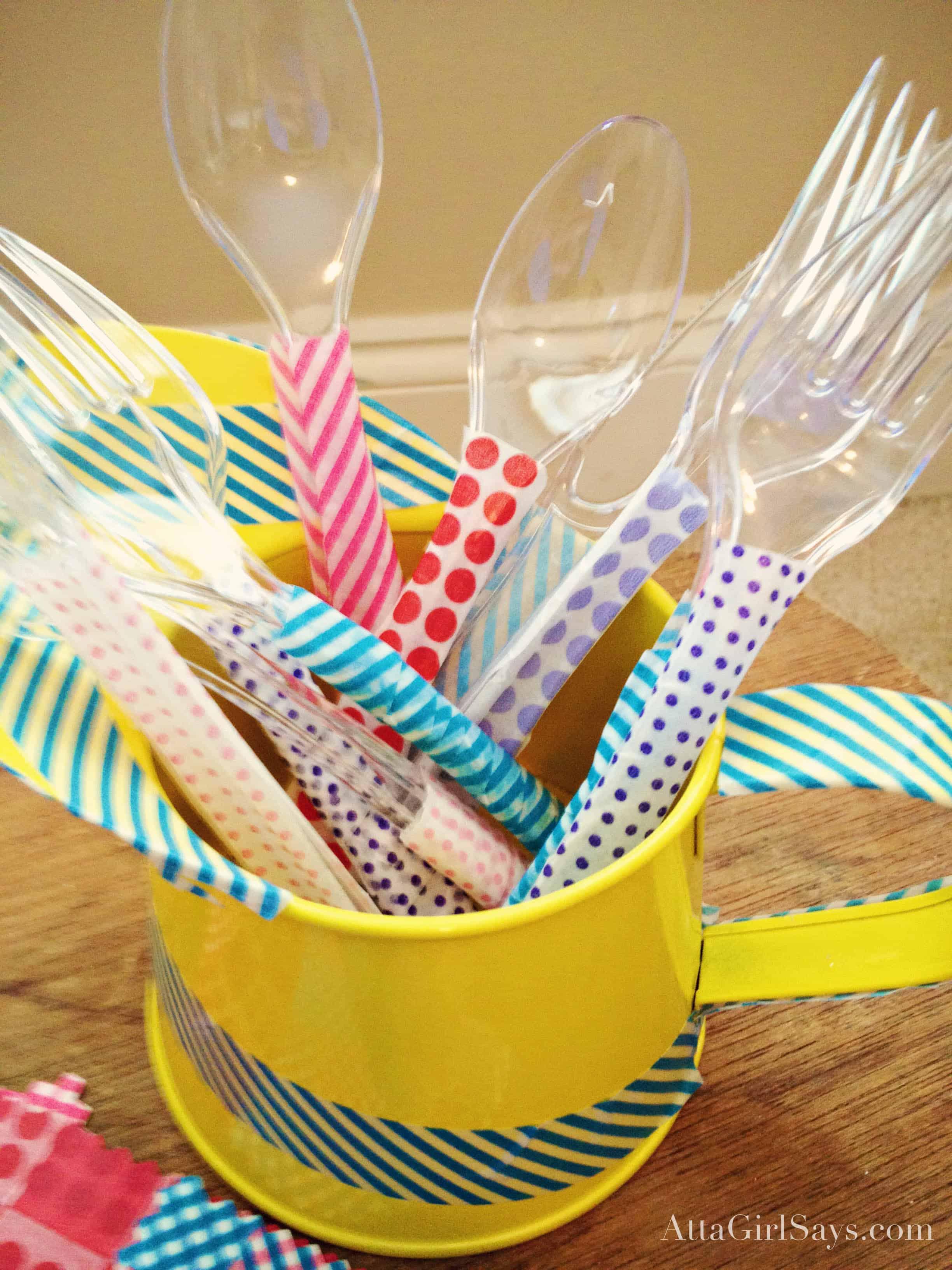 Washi tape cutlery