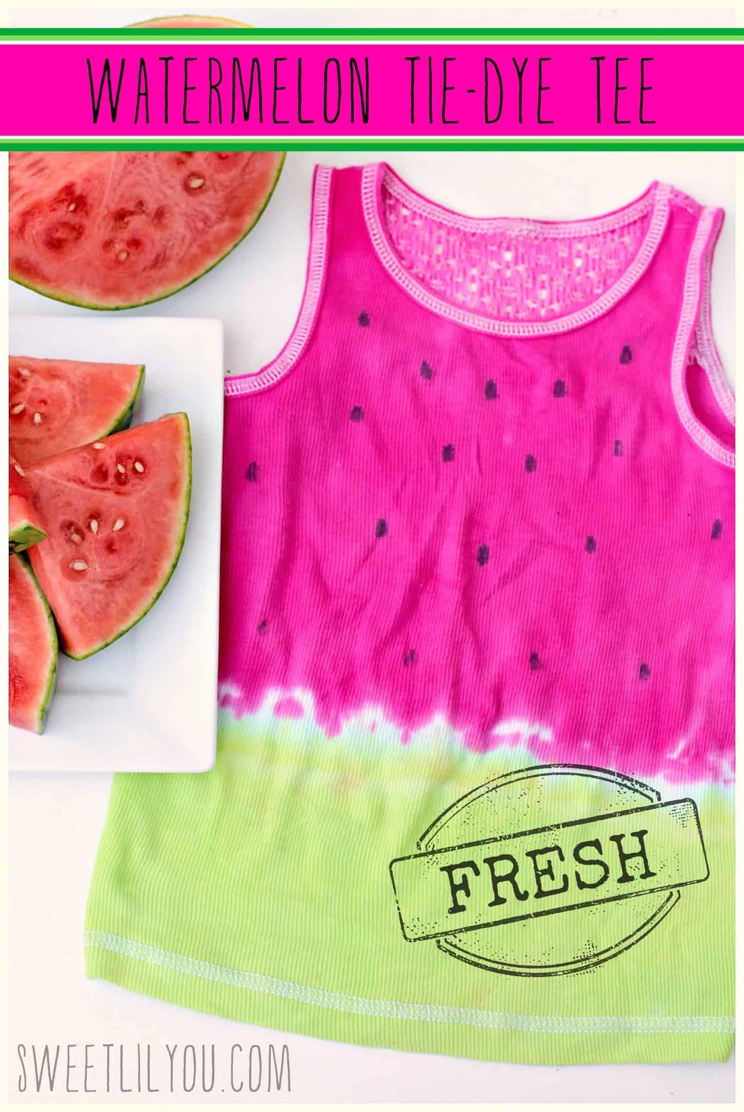 Watermelon tie dye tee