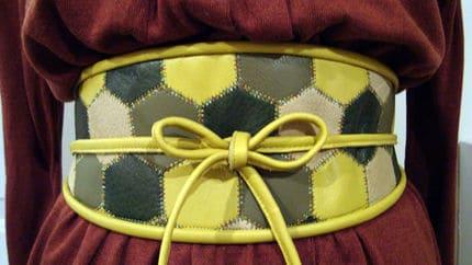 Wide hexagon belt