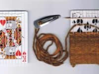 Woven loom playing cards 200x150 New Tricks Up Your Sleeve: Old Playing Card Crafts to Fall in Love With