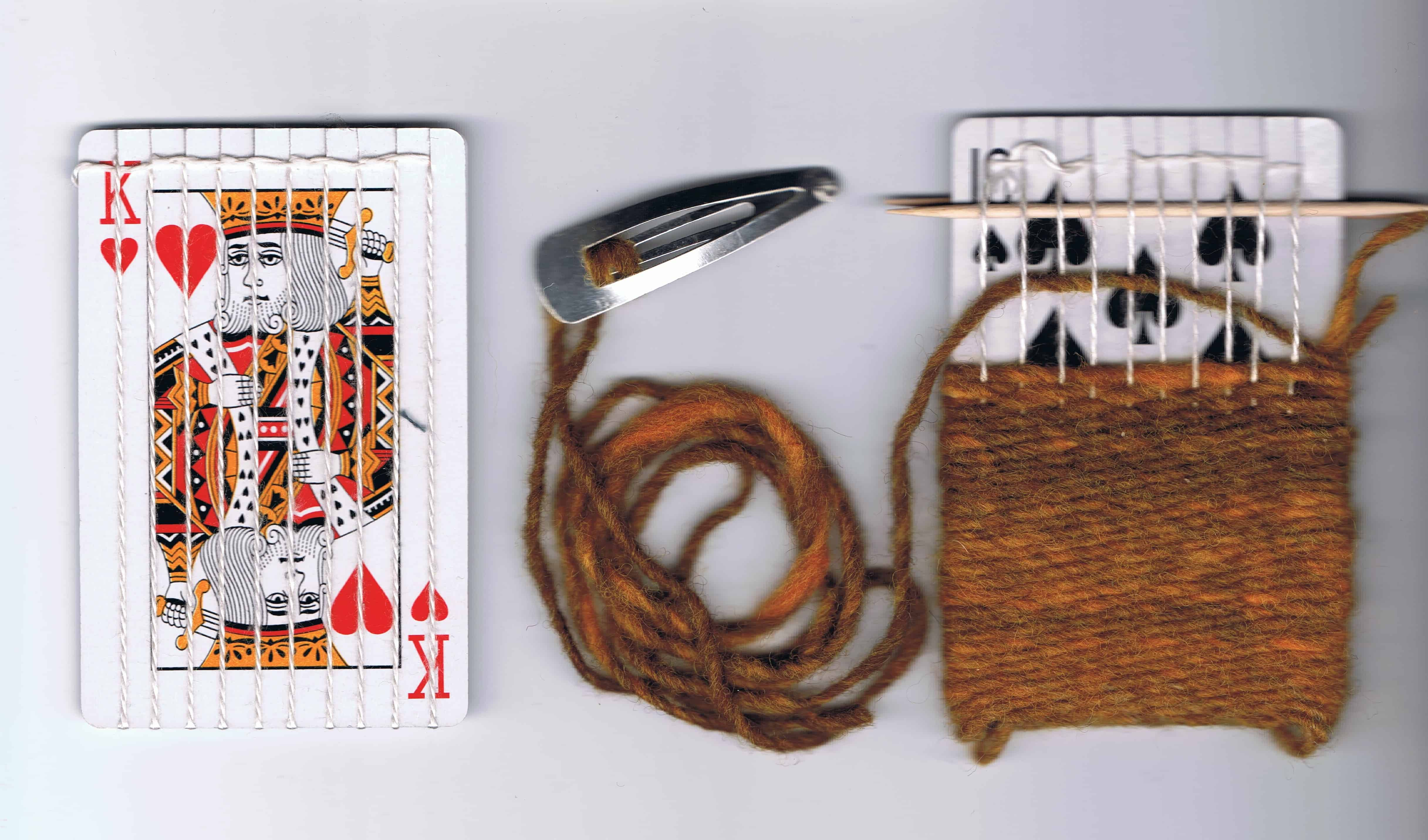 Woven loom playing cards