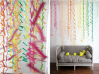Zig zag accordion streamers  200x150 Fun, Simple and Unique: DIY Paper Decorations
