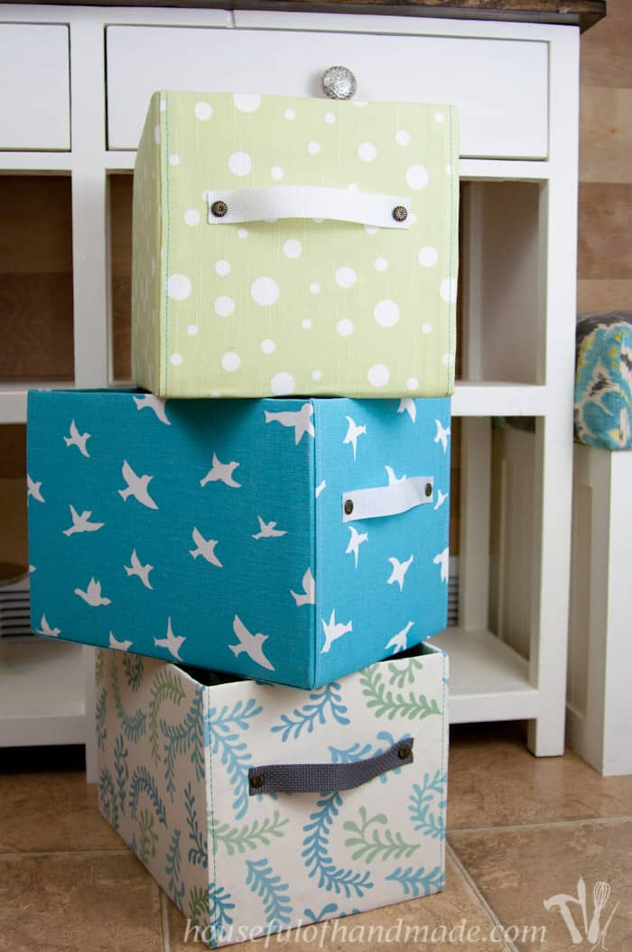Adorable fabric storage boxes