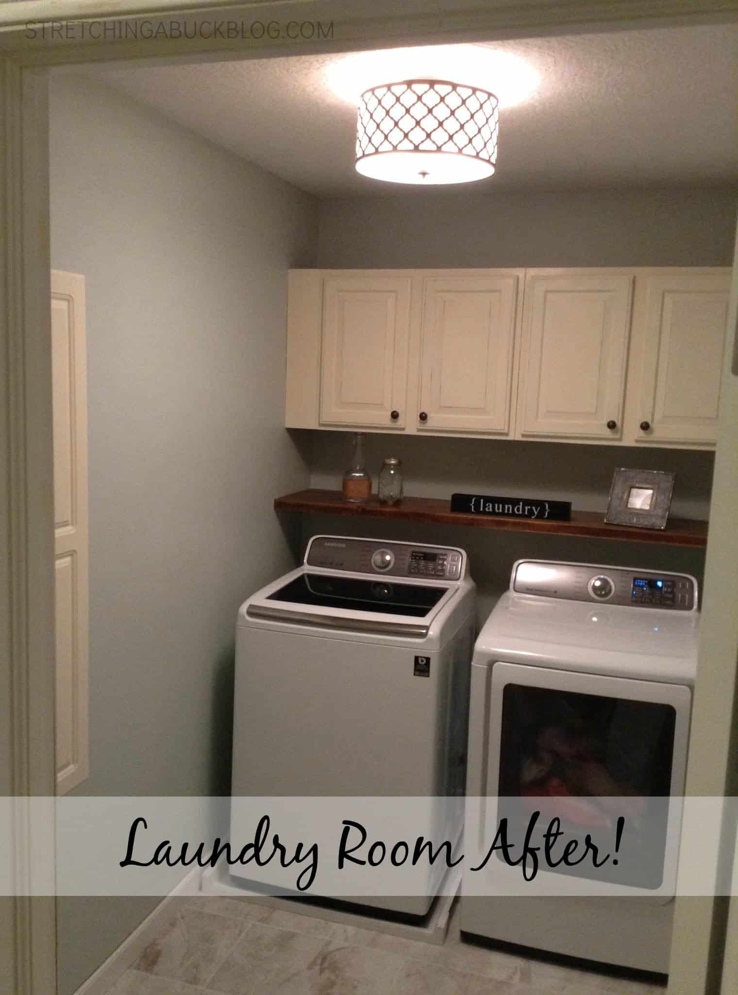 Complete laundry room makeover