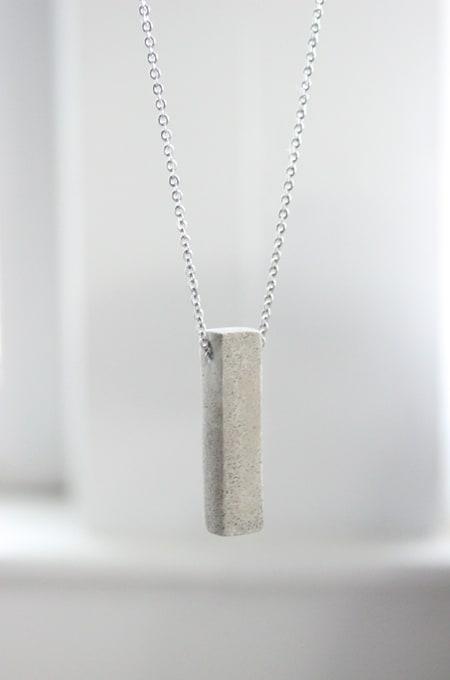 Concrete block necklace