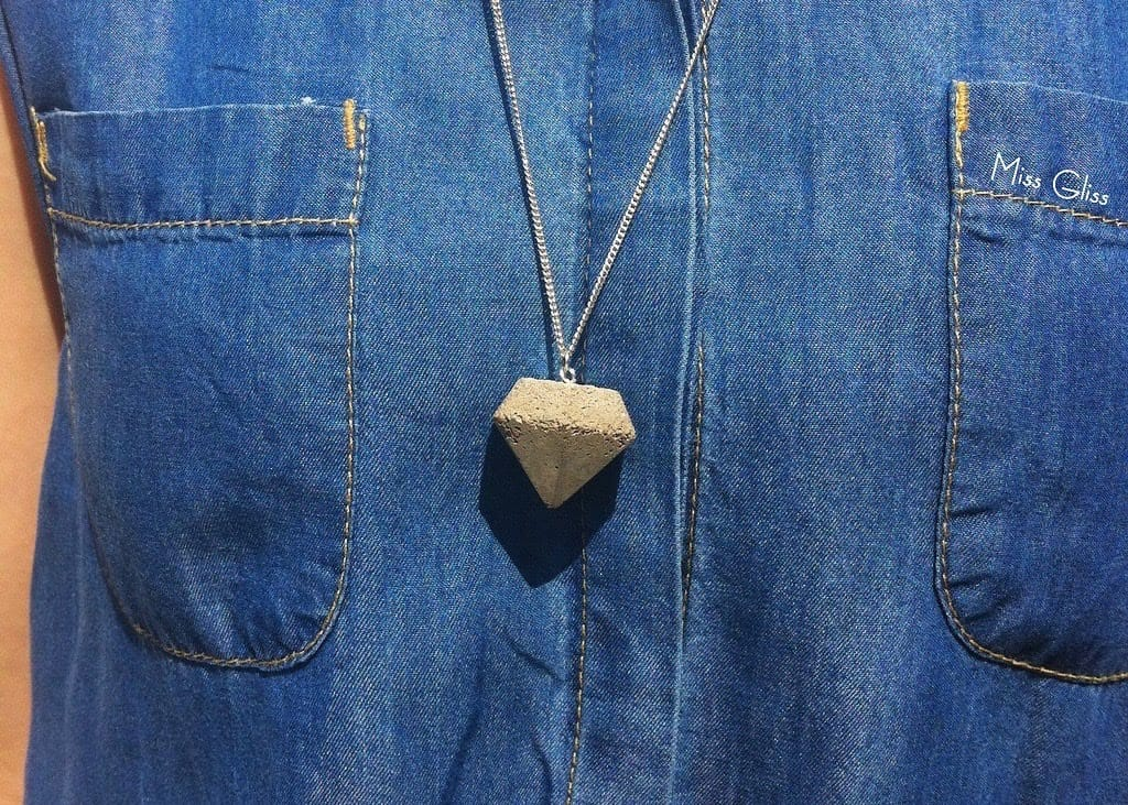 Concrete diamond necklace
