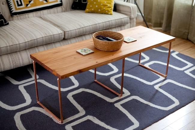 Copper pipe classic coffee table