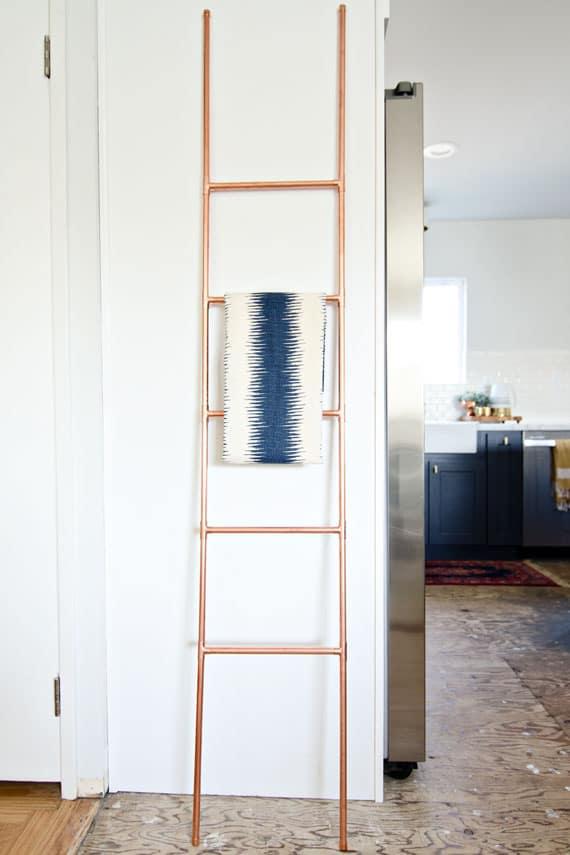 Copper pipe ladder
