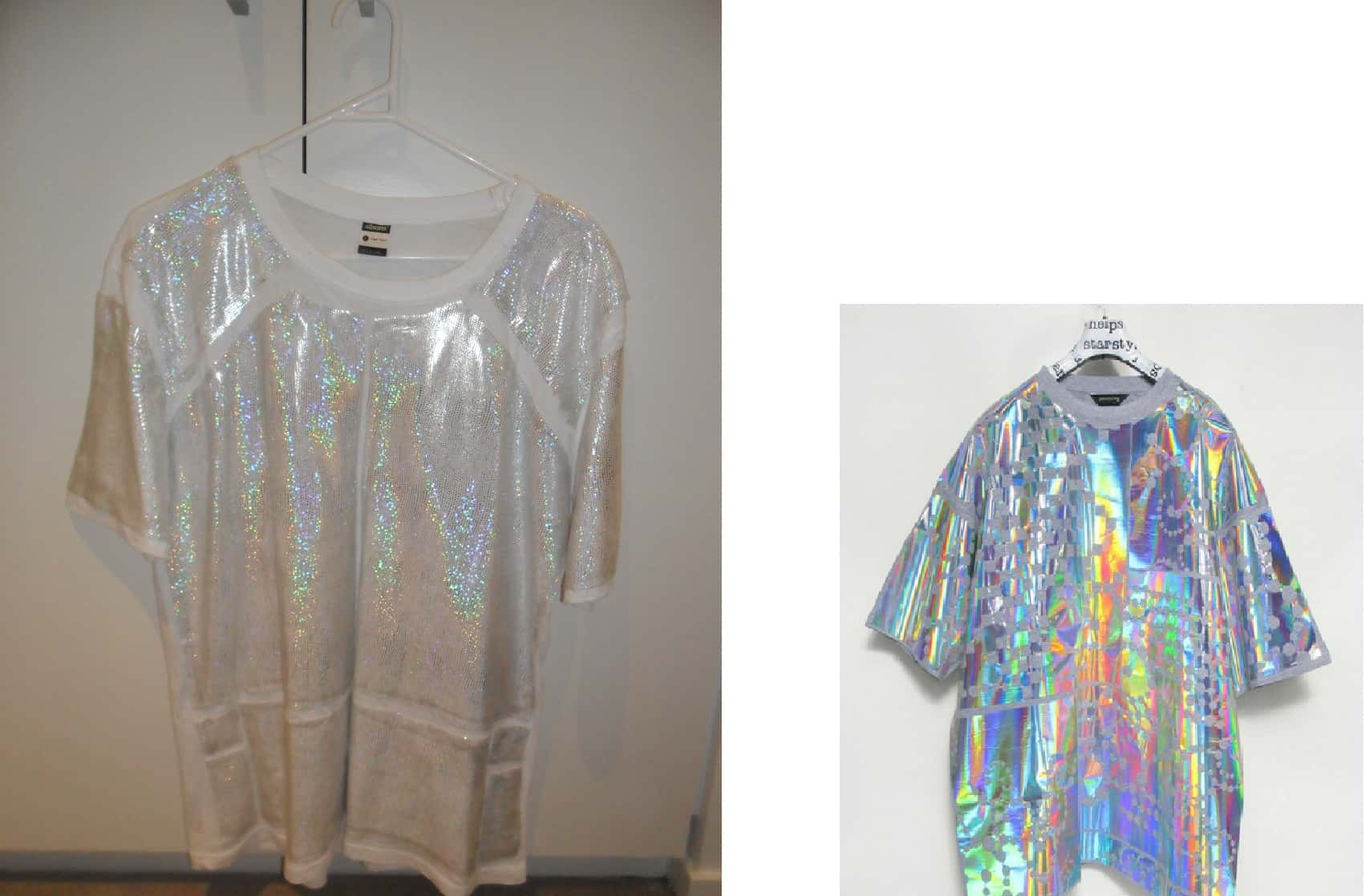 DIY holographic t-shirts