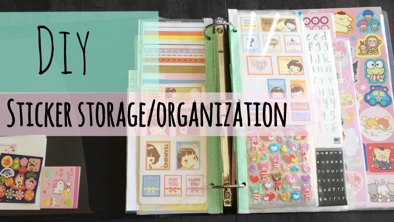 DIY sticker storage and organization