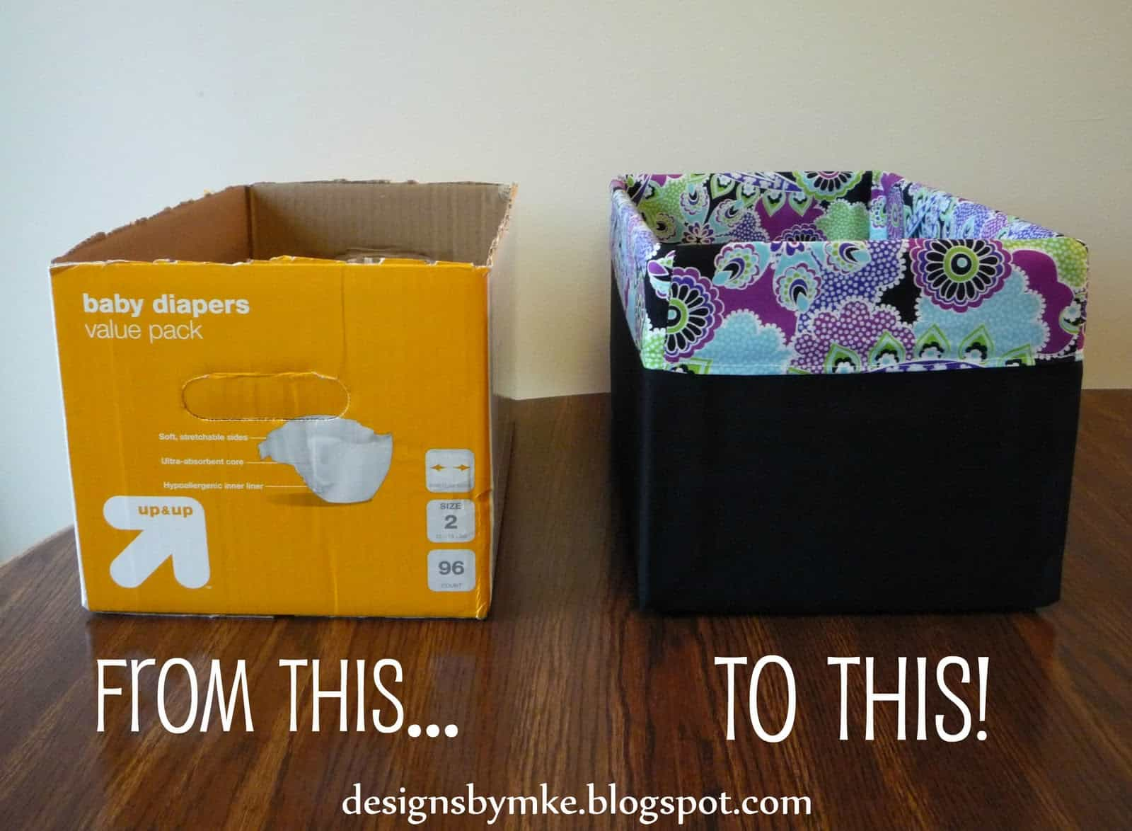 Diaper box storage box