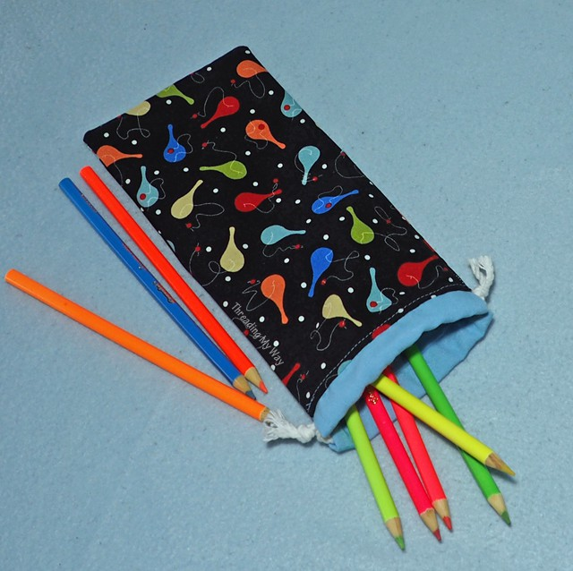 Drawstring pencil pouch